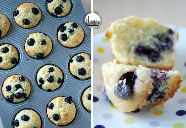 muffin con blueberries