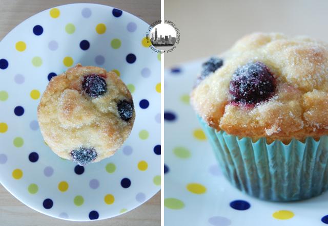 cupcakes con mirtilli