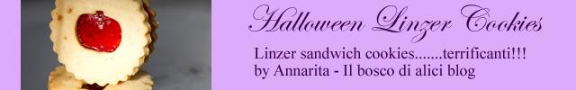 foto biscotti linzer halloween