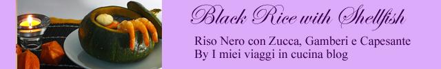 riso nero con gamberi