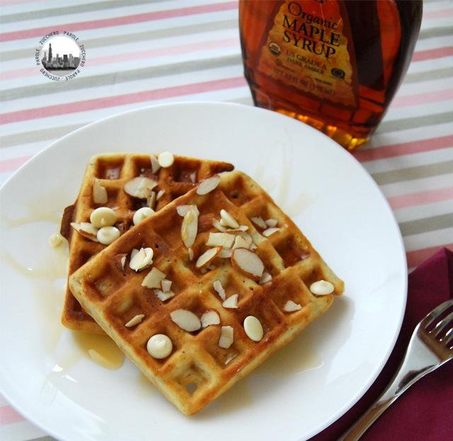 foto waffle alle mandorle