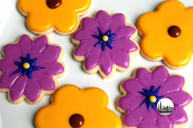foto biscotti a forma di fiori