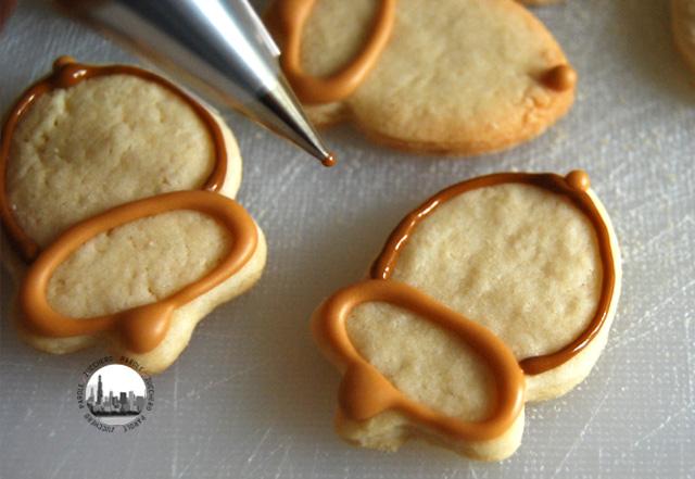 biscotto a ghianda decorato