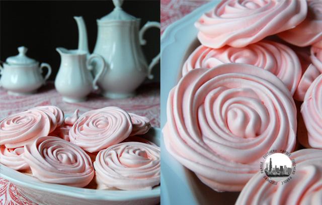 foto collage rose di meringa