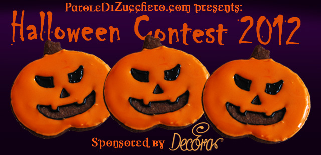 Contest di Halloween banner orizzontale