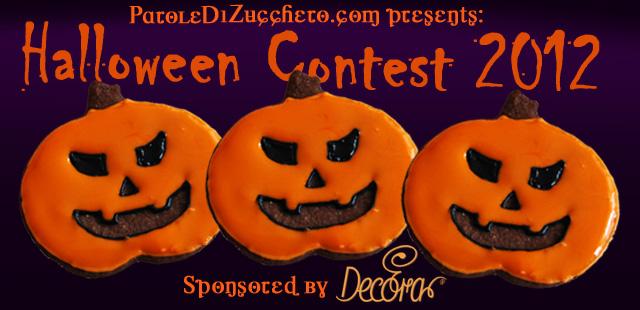 Contest di Halloween banner orizzontale