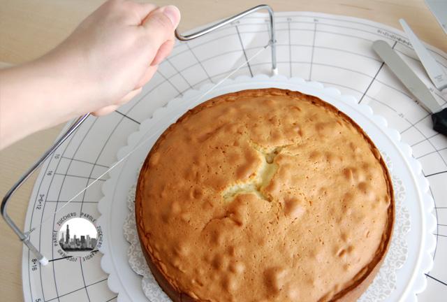 foto tagliare il pan di spagna