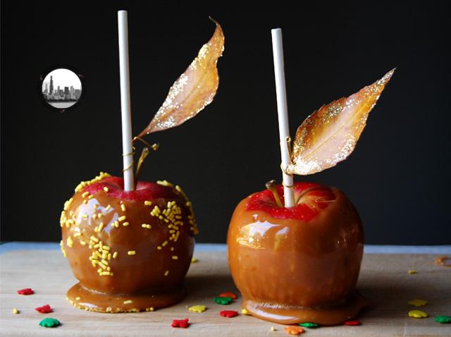 foto mele rosse e foglie
