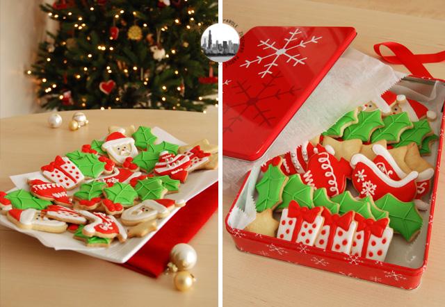 Biscotti di natale decorati con glassa reale parole di - Decorazioni natalizie per dolci ...
