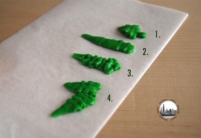 come decorare foglie con la ghiaccia