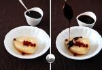pere caramellate con salsa