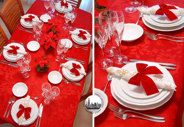tavolo decorato per natale