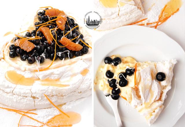 torta di meringa e panna