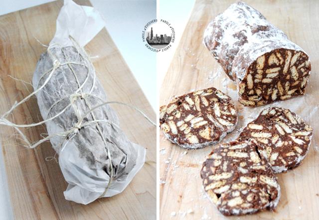 dolce con biscotti
